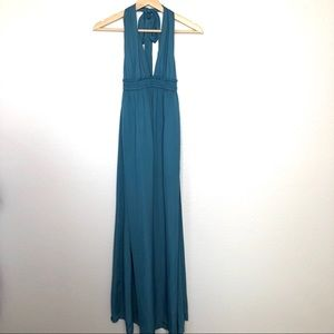 Lulu's halter maxi dress plunging neckline